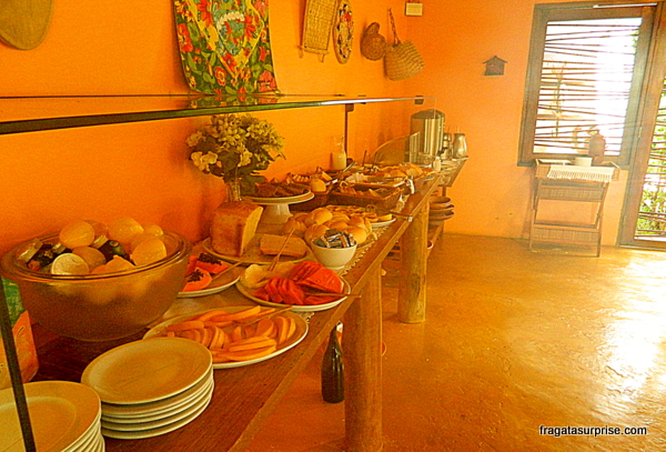 Café da manhã da Pousada Mar Aberto, Fernando de Noronha