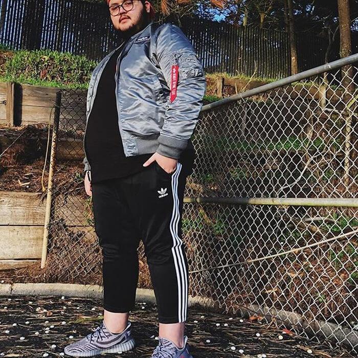 calça masculina com listras