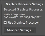 Tinh chỉnh GPU setting cho photoshop