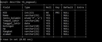 Cara Mengubah Nama Field atau Kolom pada Tabel MySQL