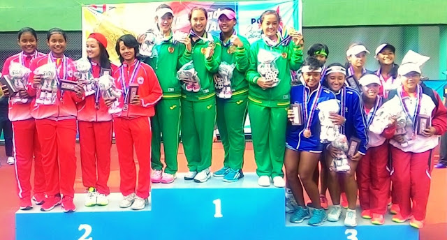 Tenis PON XIX: Juara Beregu Putra dan Putri