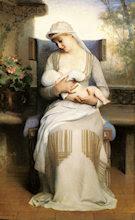Joven madre, por Emile Levy