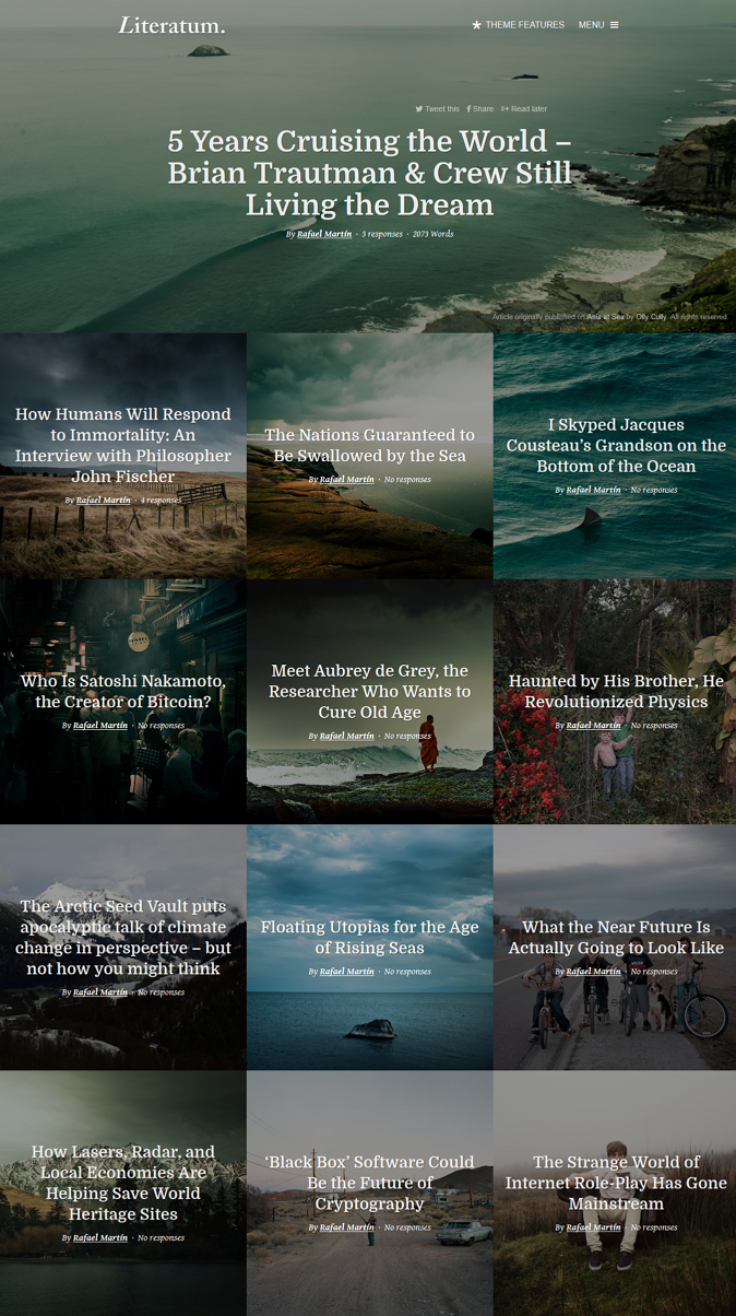 WordPress News Template