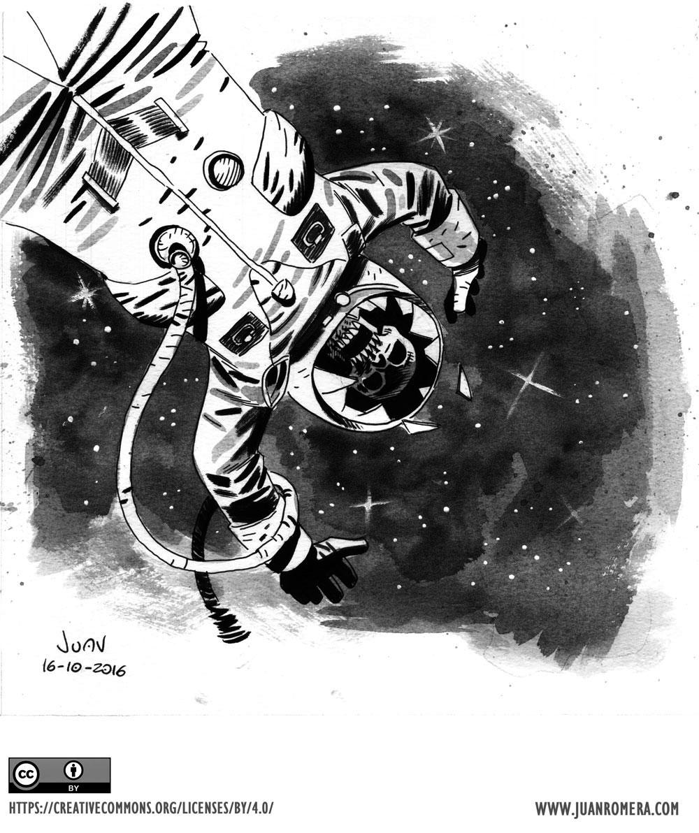 Inktober Astronaut