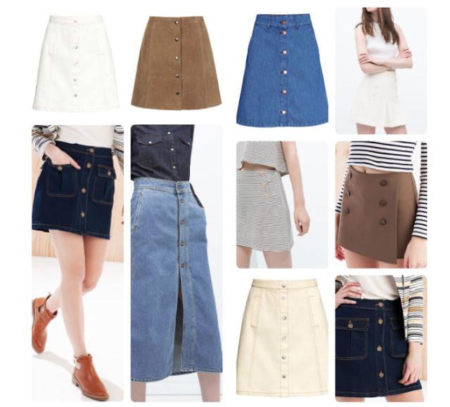 tendencia falda con botones