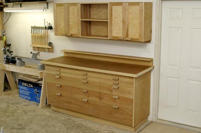 Shootingboard Shop cabinets project