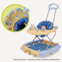 Baby Walker Family FB2158LD Roller Toys 3 in One Baby Walker Rocker Pusher