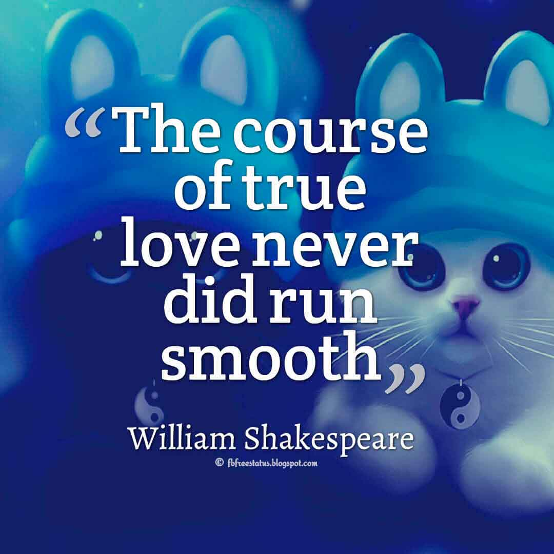 The course of true love never did run smooth ― William Shakespeare quotes about love
