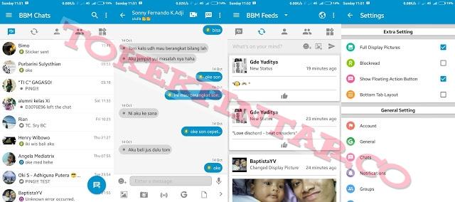 Download BBM Offcial Mod Fitur Terbaru V3.1.0.13 Apk Unclone + Clone (No Ads)