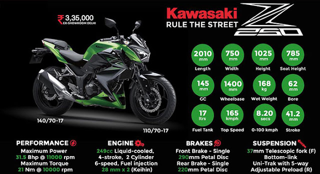Just Purchased Kawasaki Z250 Super Naked: Street fighter on road : eAskme