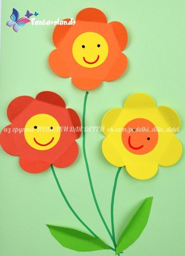 paper crafts for kids flowers preschool kindergarten