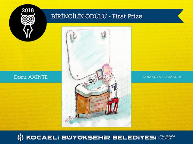 The Winner of 2nd International Wise City Kocaeli Cartoon Contest, Turkey