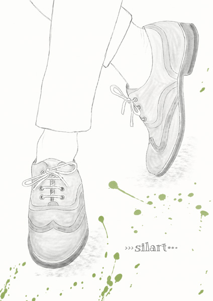Oxfords, Zeichnung, hand drawn
