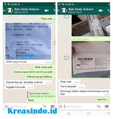 Handrail Kamar Mandi Stainless Pesanan Bpk Dedy Sukron di Kencong Jember Jawa Timur