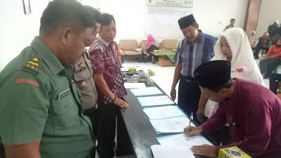 Pemerintah Kecamatan Rengasdengklok Gelar Penandatanganan Fakta Integritas Calon Kades