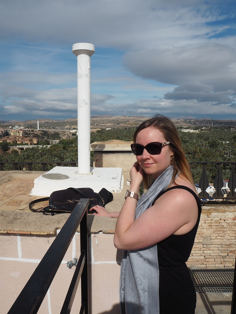 On the rooftop of the bell tower in Elche