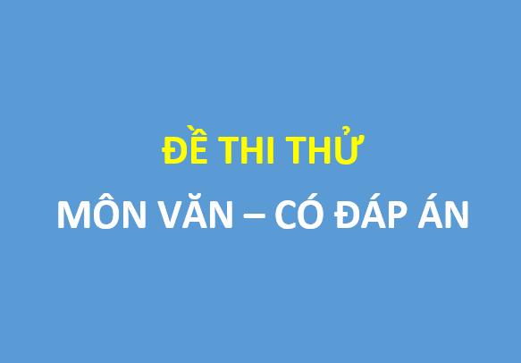 Đề thi thử môn ngữ văn trường thpt chuyên Bắc Ninh - có đáp án