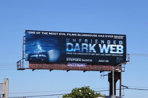 Unfriended Dark Web movie billboard
