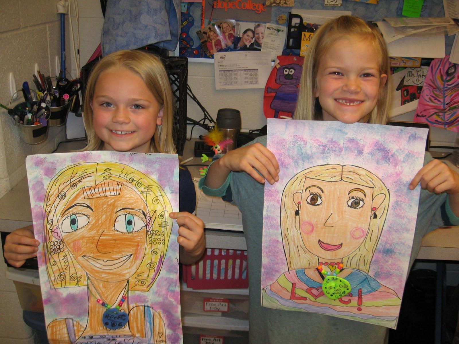 Jamestown Elementary Art Blog 1st Grade Mother S Day Portraits
