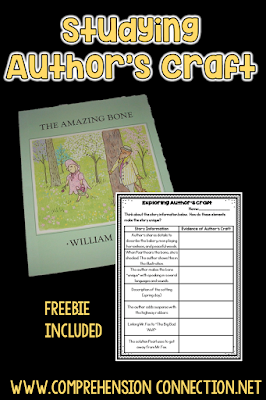Rich vocabulary, descriptive language, and a focus on characterization equals the perfect book for author's craft. Check out this post for other teaching ideas for The Amazing Bone by William Steig