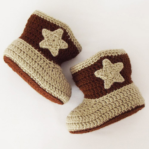 Baby Cowboy Booties - Free Pattern