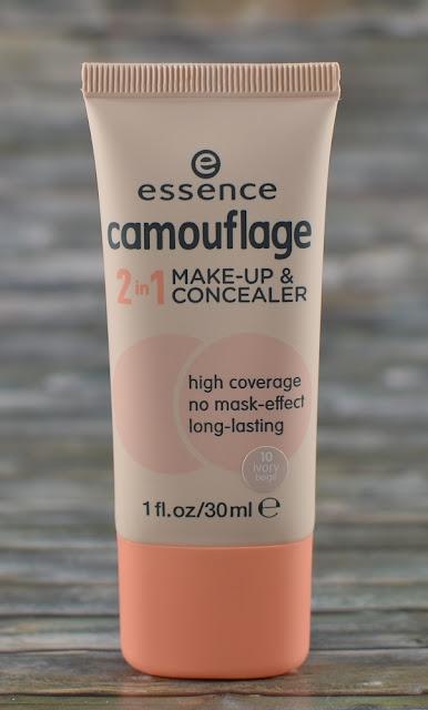 Essence camouflage 2 in 1 make-up & concealer 10 ivory beige