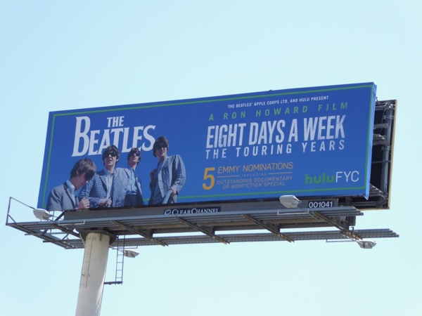 Beatles 8 days week Emmy billboard