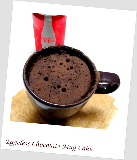 Eggless Chocolate Mug Cake Recipe Microwave