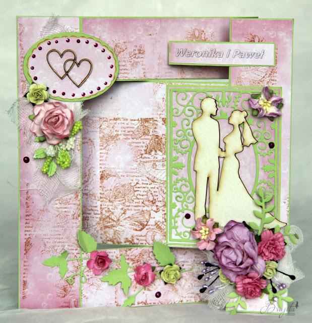 ślubny exploding box, na ślub, prezent, co dać od świadków na wesele, życzenia ślubne, Magiczna Kartka Magia Ombre, I-Kropka inspiracje, pastelove love, komplet ślubny