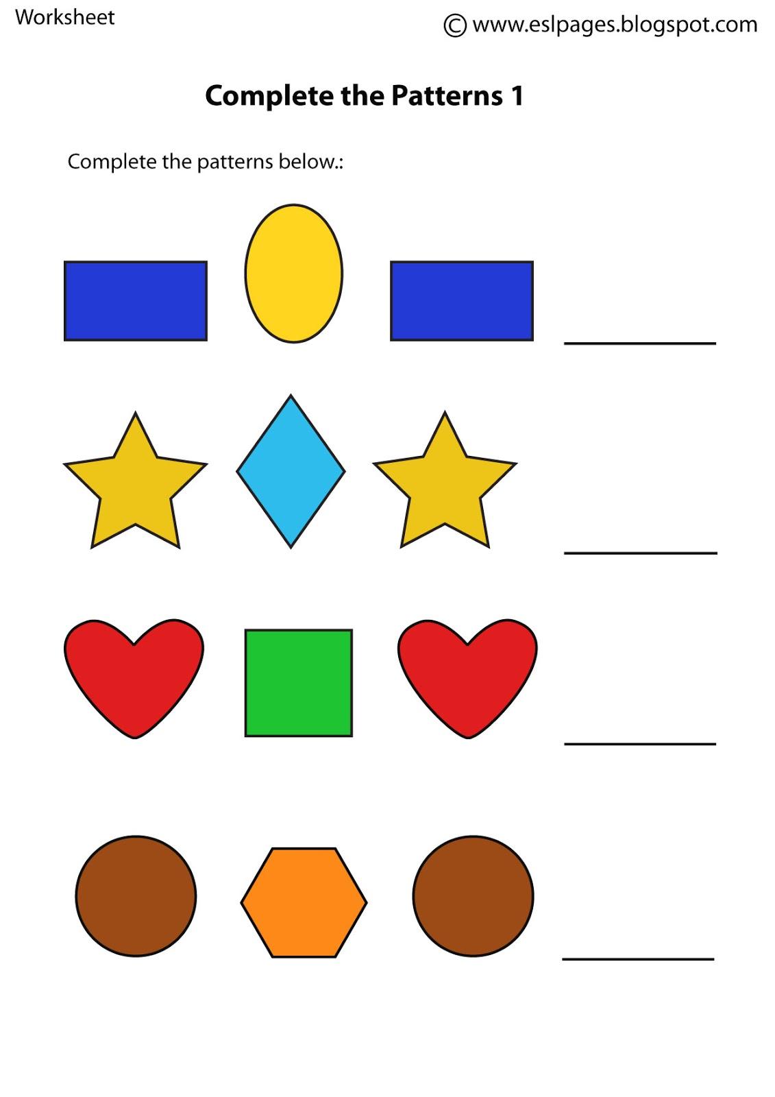 Esl Pages Patterns Worksheets