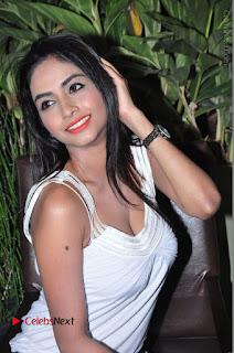 Actress Model Pooja Sri Stills in White Short Dress at F Club pre soft Launch  0170.JPG