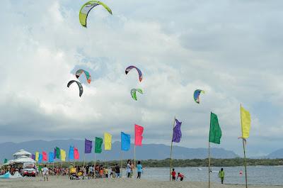 Coastal Kiteboarding Colours Puro Pinget Island Magsingal Ilocos Sur Philippines