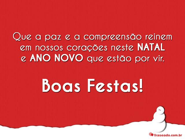 Mensagens de Natal e Ano Novo