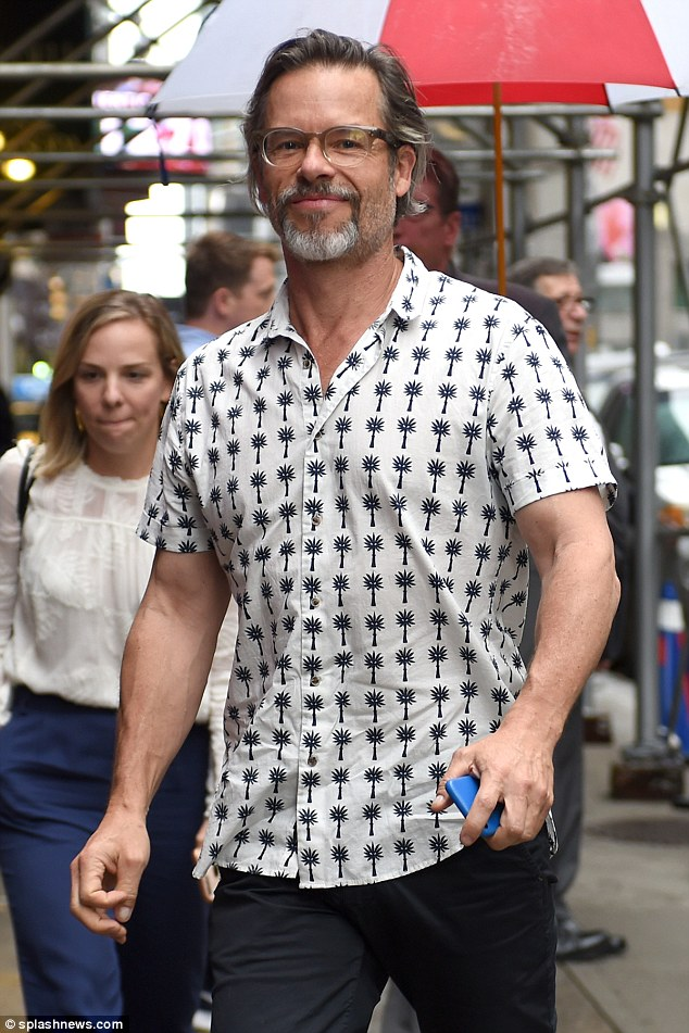 Australian actor Guy Pearce pictured out in  NYC as he males an appearance on The Late Show