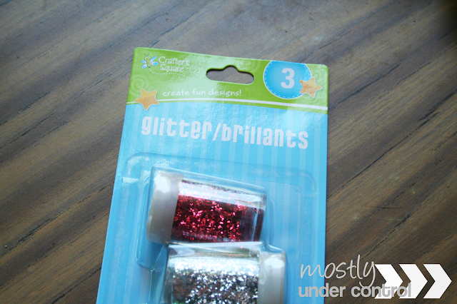 glitter used for a baby sensory water bag