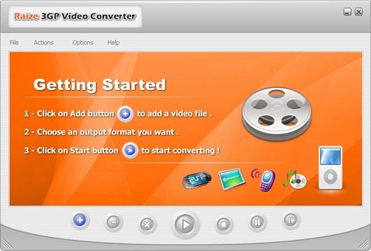 تحميل برنامج محول الفيديو للموبايل Raize 3GP Video Converter   لتحويل الفيديو الي موبايلك