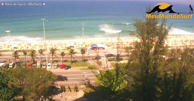 Câmera ao vivo da Praia da Barra da Tijuca