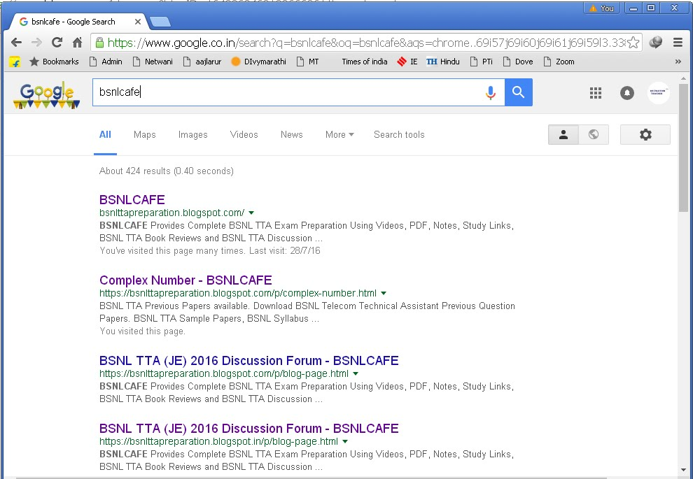 Find us easily in google search (bsnlcafe)