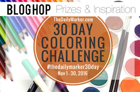 The Daily Marker 30 Day Coloring Challenge Blog Hop
