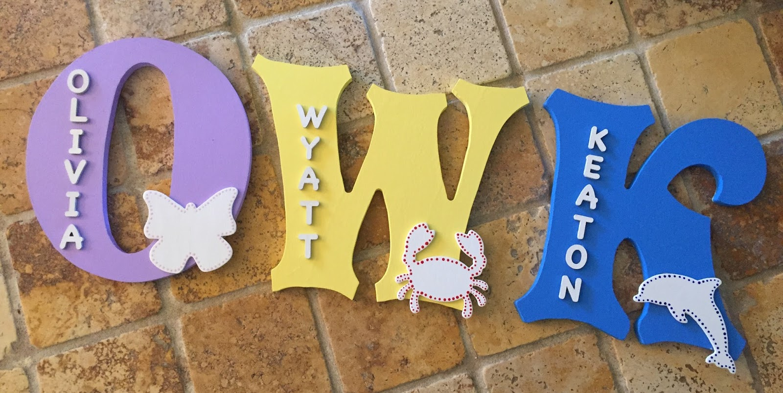 Wood Letter Name: Wall Decor | 2-DIY-4