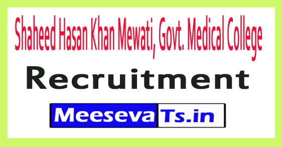 Shaheed Hasan Khan Mewati, Govt. Medical College SHKM GMC Recruitment