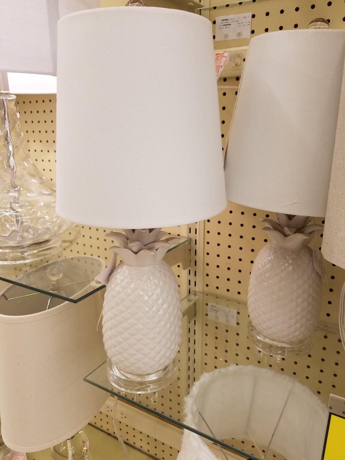 Next Is The White Ceramic Pineapple Lamp. My Favorite!
