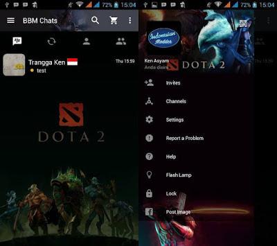 Download BBM Dota 2 MOD APK Terbaru Keren With Change Background