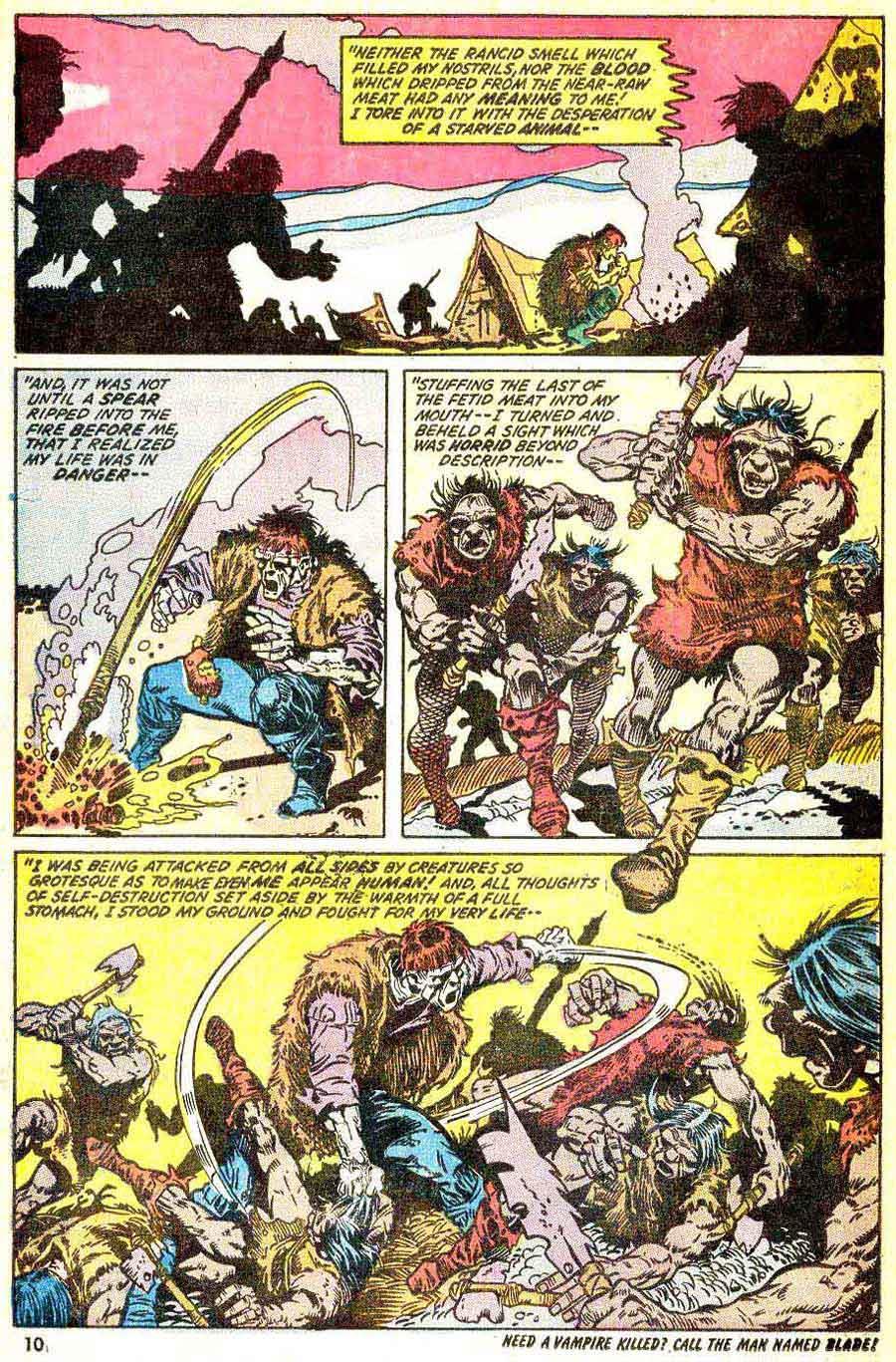 Frankenstein v2 #4 marvel comic book page art by Mike Ploog