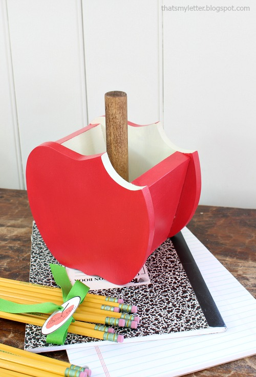 scrap wood apple pencil holder