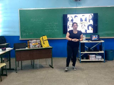 Rede Cananéia realiza Oficina de EduComunicação pela Maleta Juventudes com jovens gremistas da Escola Irene Machado em Registro-SP