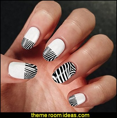 Nail Art Beauty Manicure Zebra Set 3D DIY Decoration Water Stickers