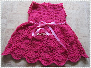 free crochet baby dress pattern, free crochet dress pattern