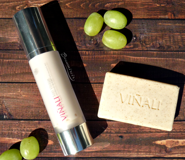 Review of Vinali skincare, infused with grape extracts