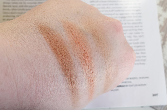 Temple Spa Healthy Glow Bronzer, Highlighter and Blush swatches